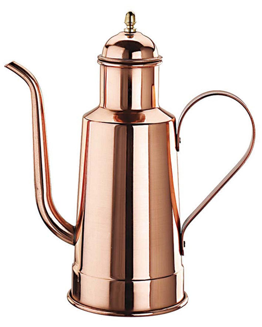 "Copper/Tin Oil Dispenser, H 10 5/8"", 1 1/8 QTS"