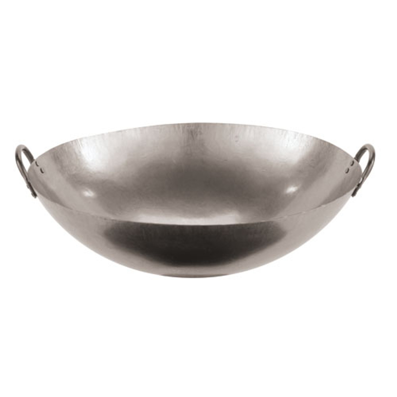 24 Dual Handled Steel Chinese Wok , L 24 x W 24 x H 7.375