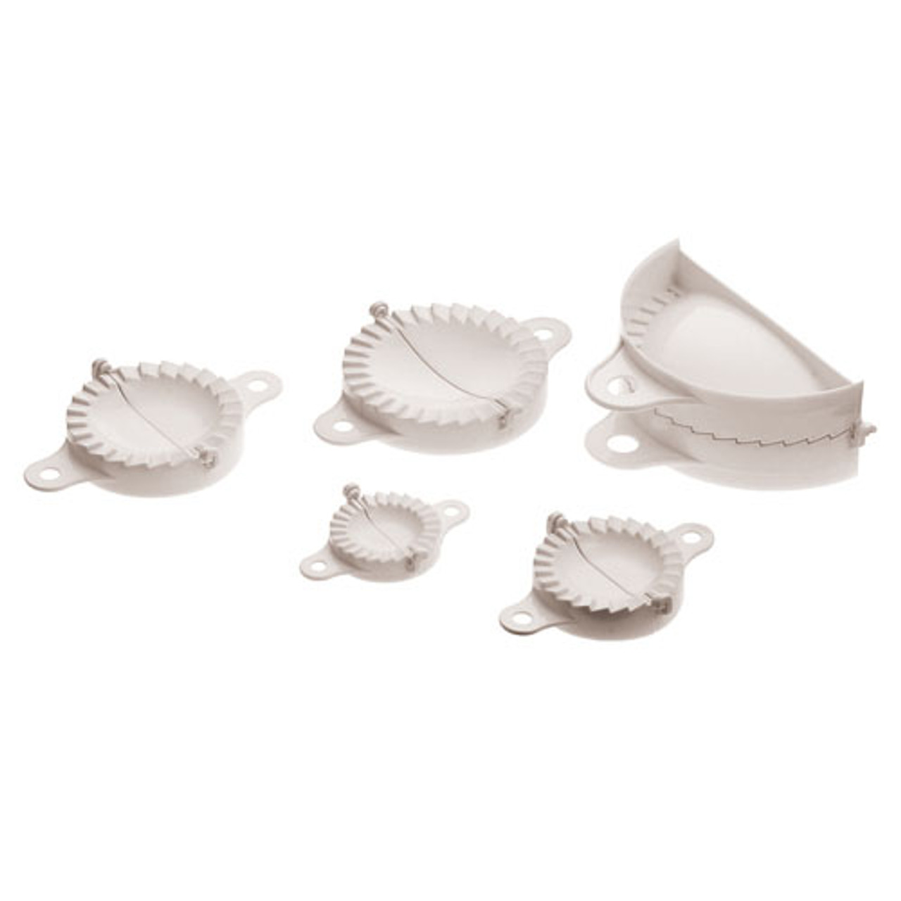 Set of Five Dumpling Molds, L 7 x W 4 x H 1