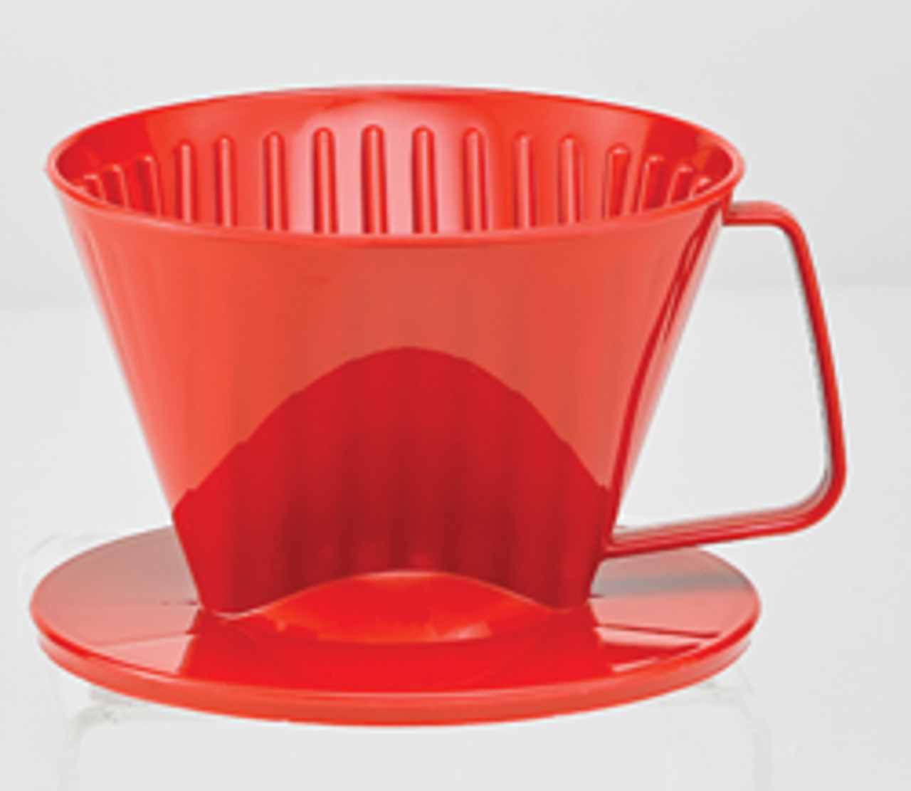 HIC Coffee Filter Cone, Red, 1 Cup