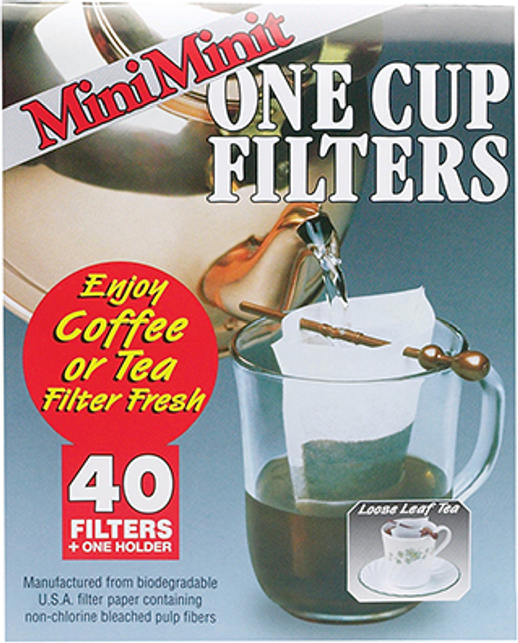 Mini Minit Filter Paper 1 Cup Bridge Kitchenware