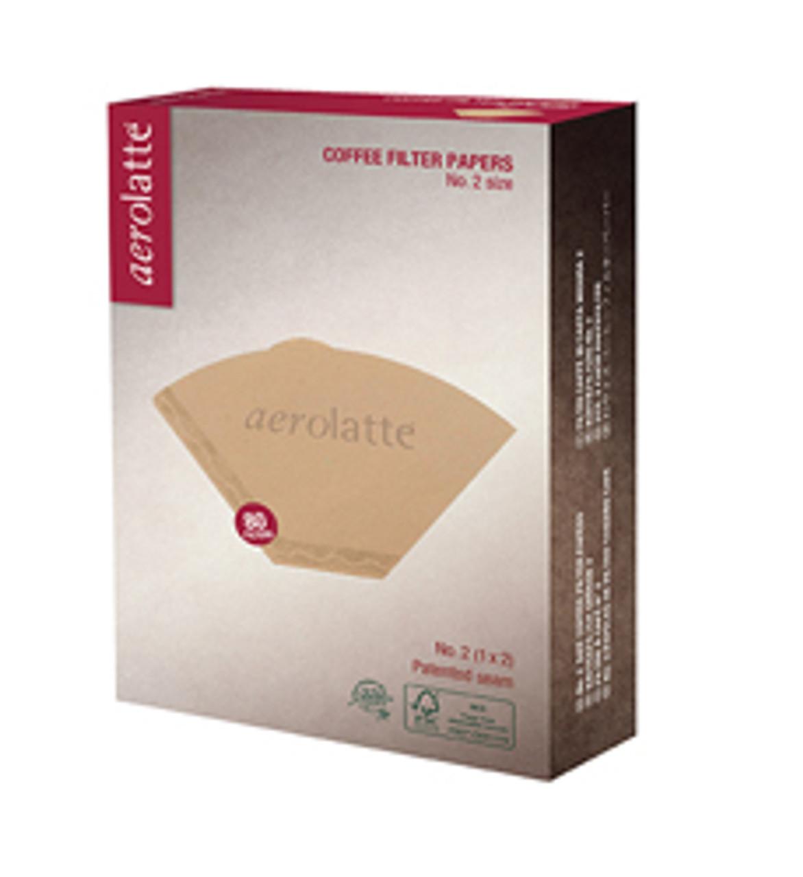 Aerolatte Unbleached Filter, 2 Cup