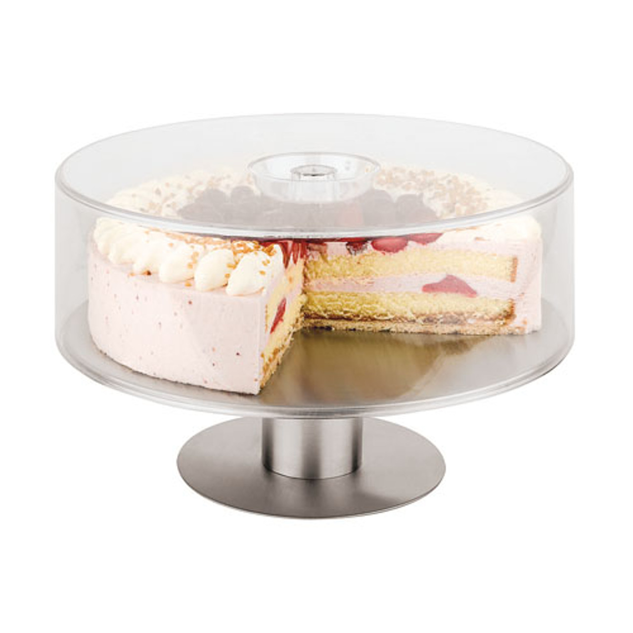 11 7/8 Dome Cover for S/S Revolving Cake Stand (item #47101-31), L 11.875 x W 11.875 x H 3.75