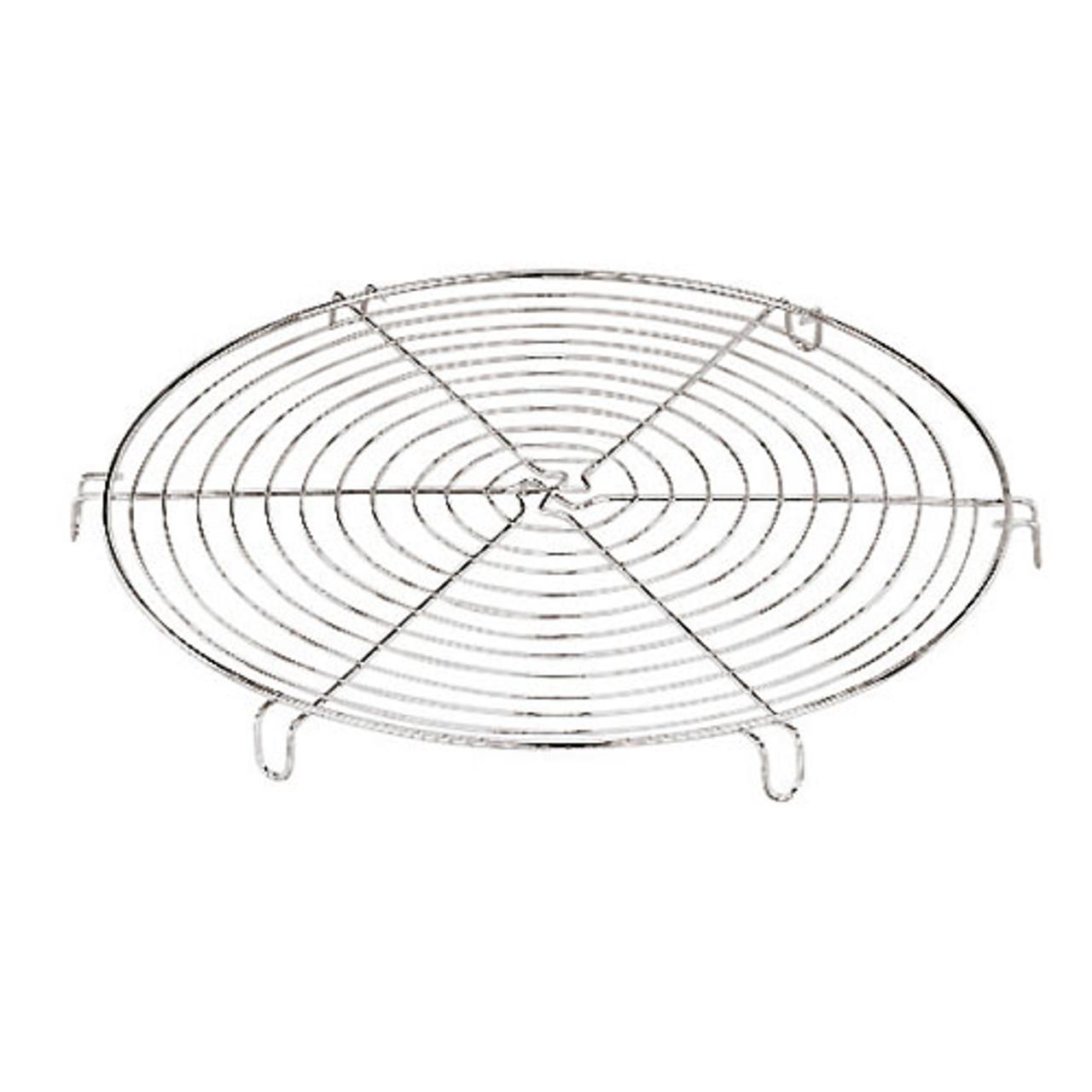 "Round Cooling Rack,Chromed, 10 1/4"", L 10.25 x W 10.25 x H 1"