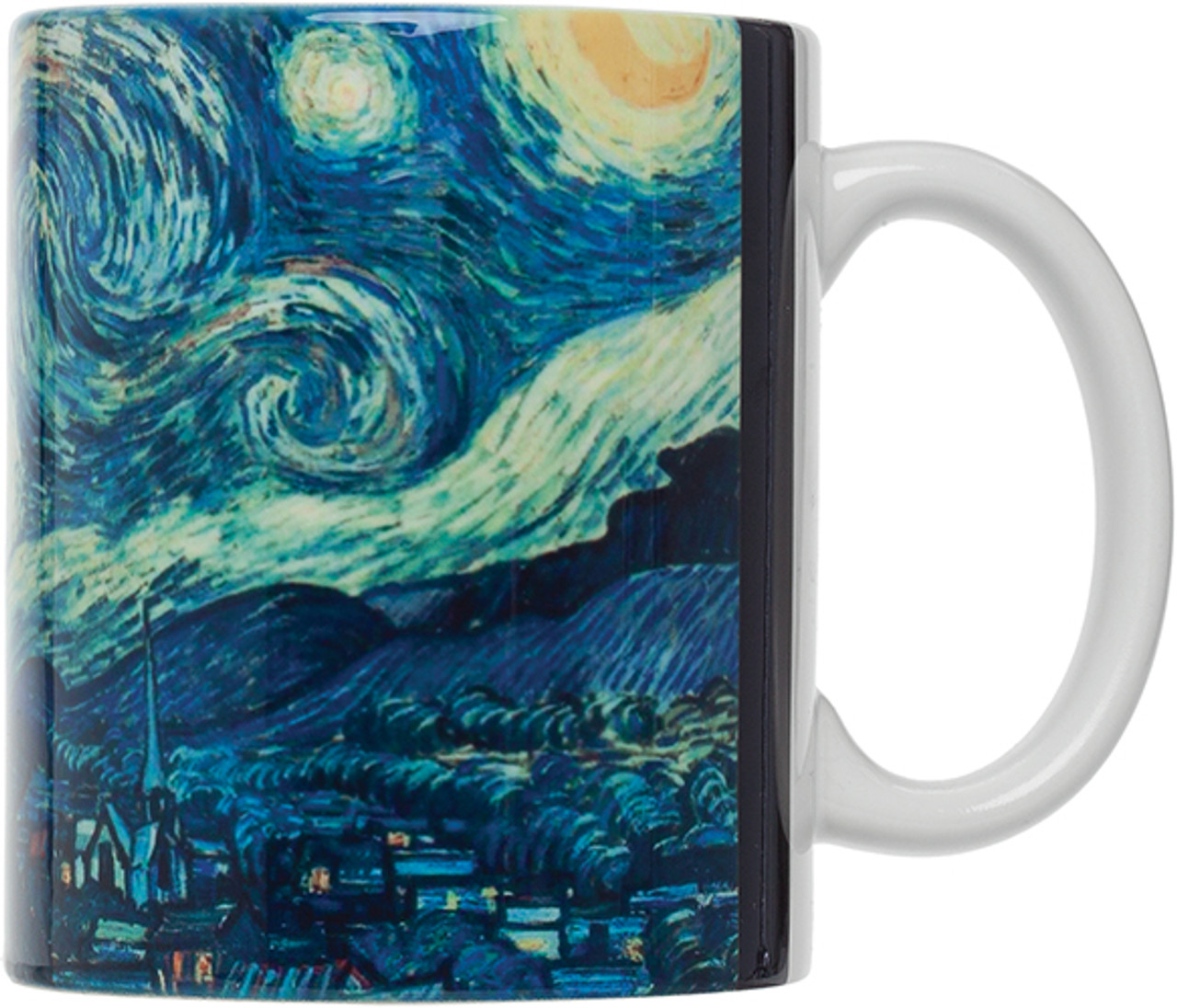 HIC Van Gogh Mug, Starry Night, Set of 4