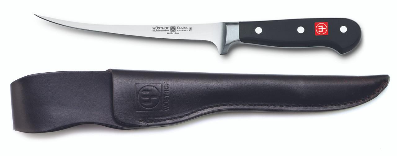 Wusthof Trident 7in Fillet Knife w/ Leather Sheath
