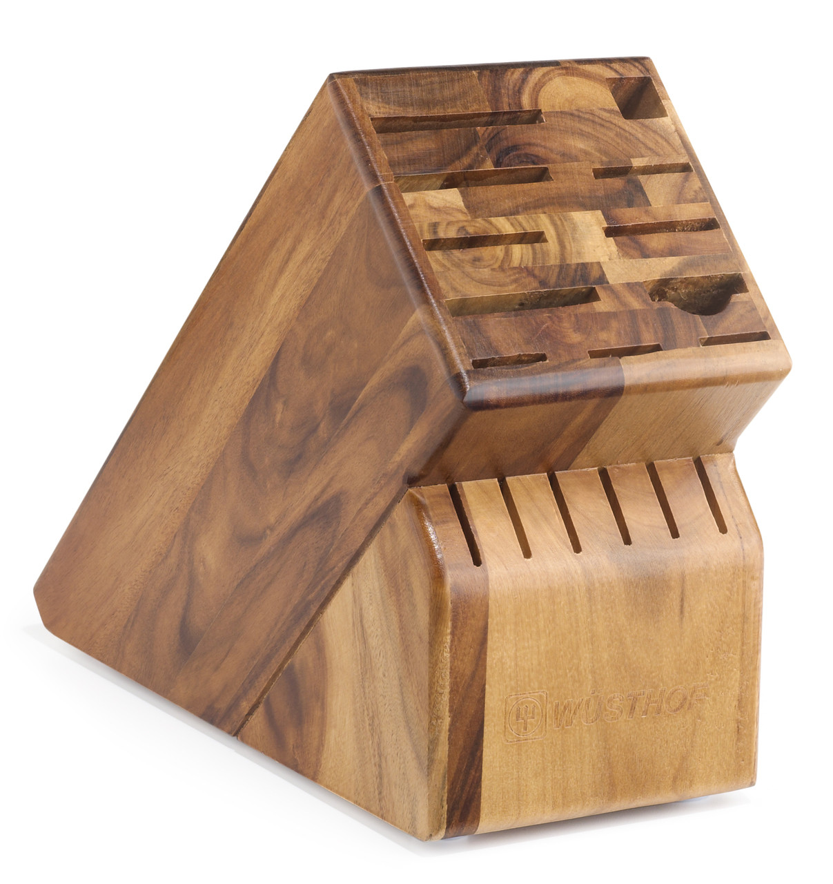 Wusthof Trident 17-Slot Acacia Knife Block