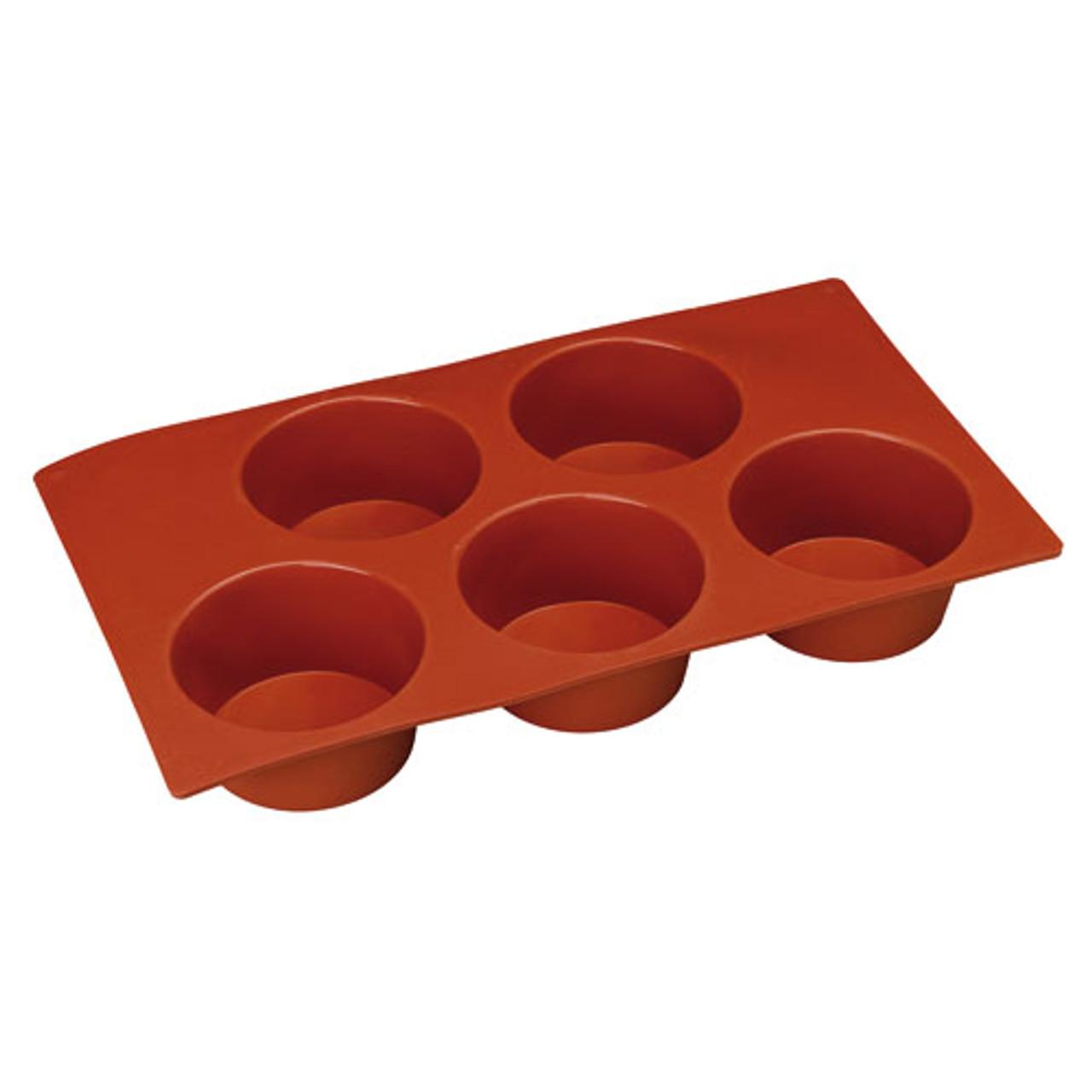 "N-Stick Silic. Mold, Muffin, DIA 3 1/8"" X H 1 3/8"", 5 OZ"