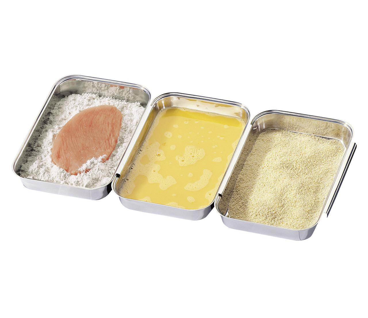 """Breading Pan Set, 3 pcs. set, 8.5"""" x 6"""" x 1"""""""
