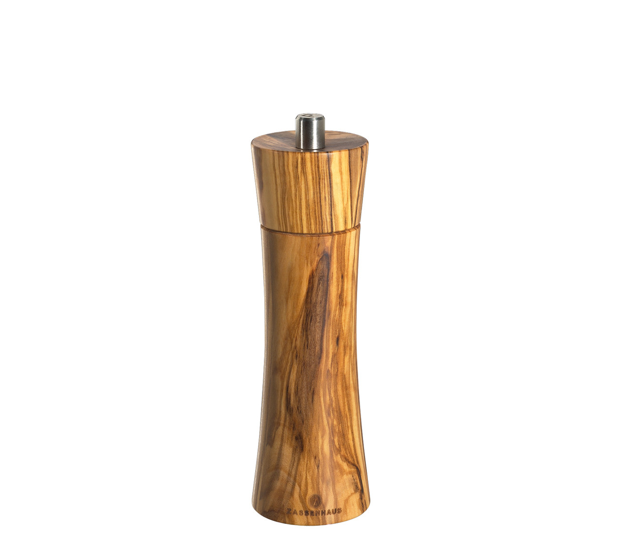 "Pepper Mill ""Frankfurt"", olive wood, 7"""