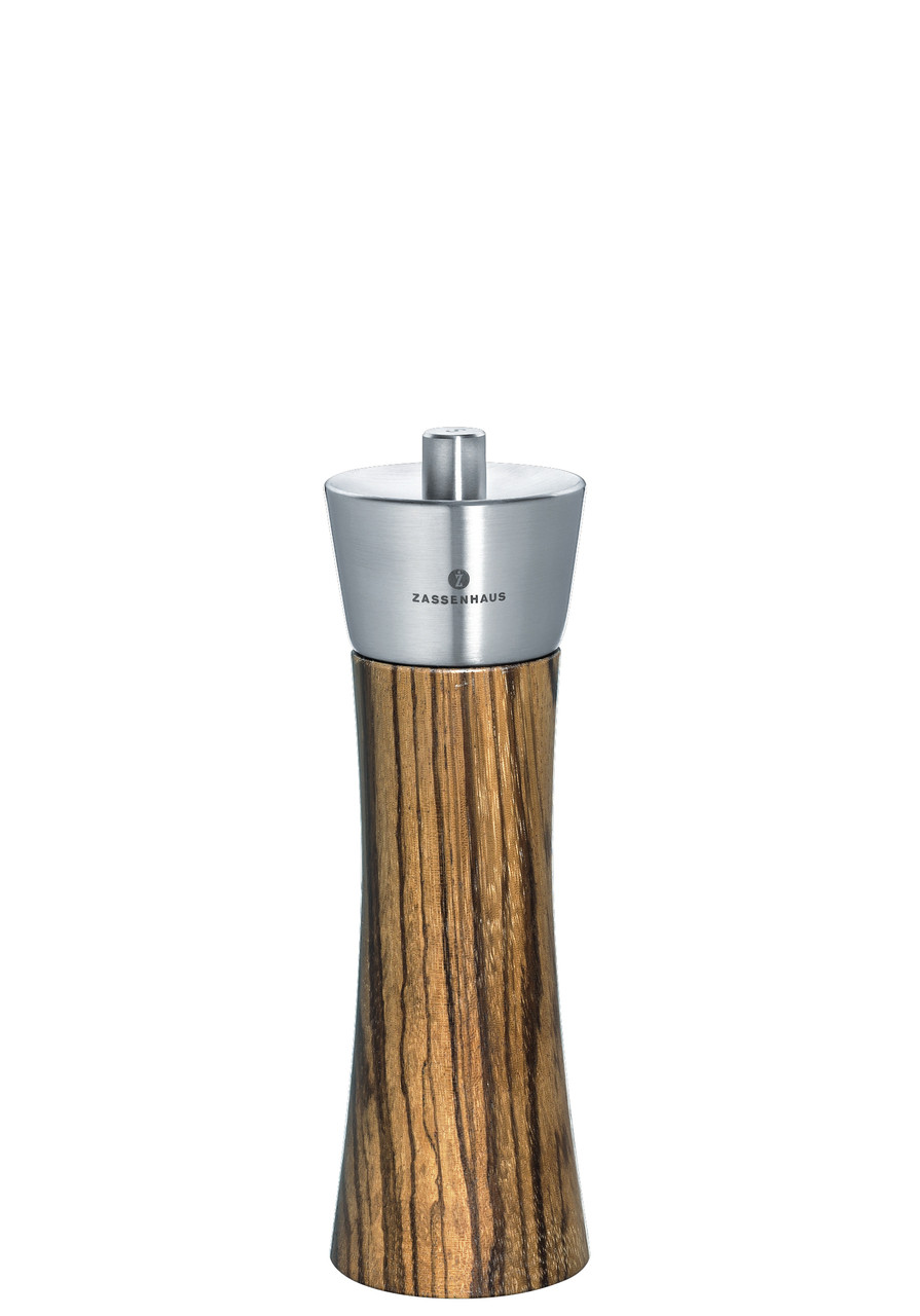 "Pepper Mill ""Augsburg"", African Rosewood, 7"""