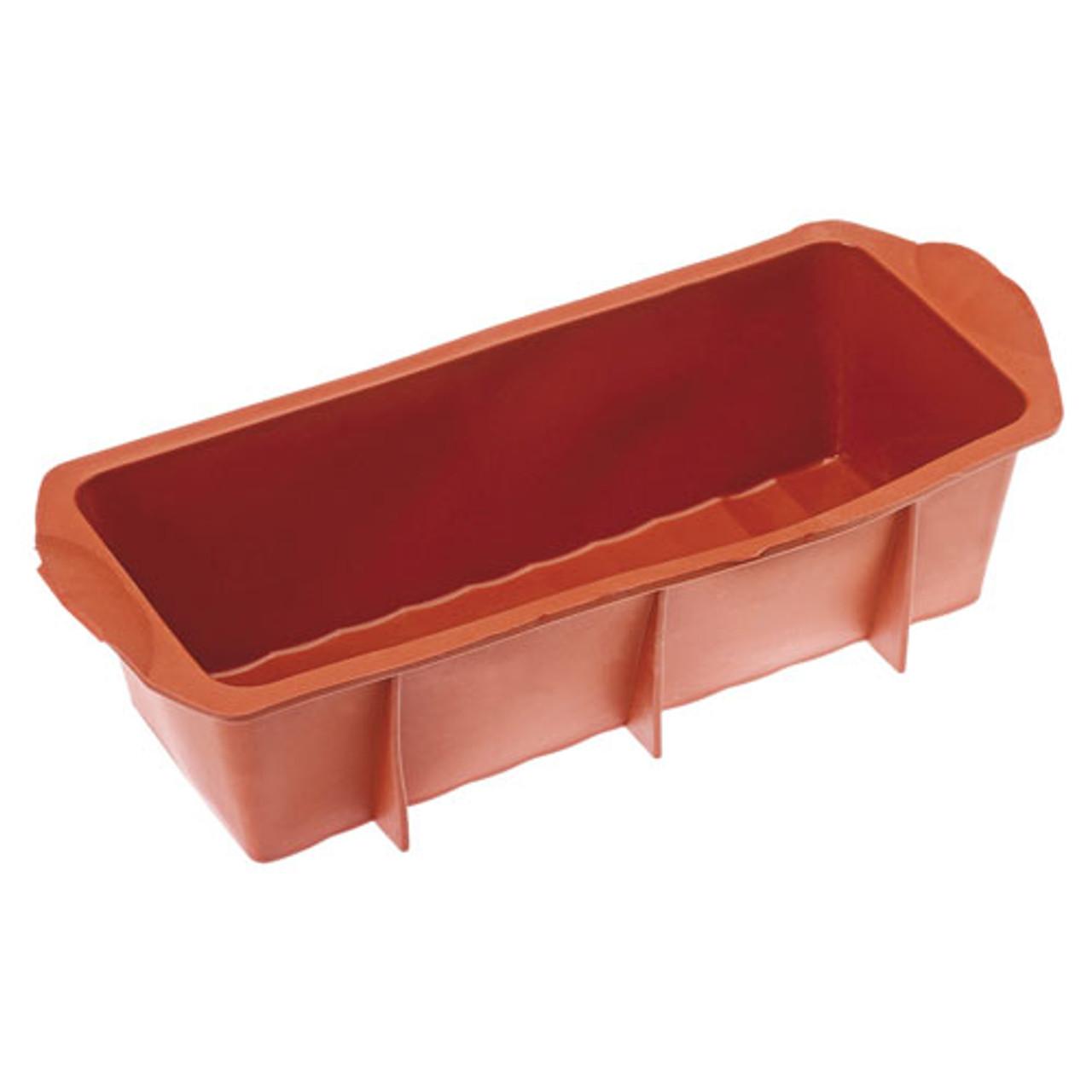 """Non Stick Silicone Loaf Mold, L 11"""" X W 4"""" X H 3"""""""