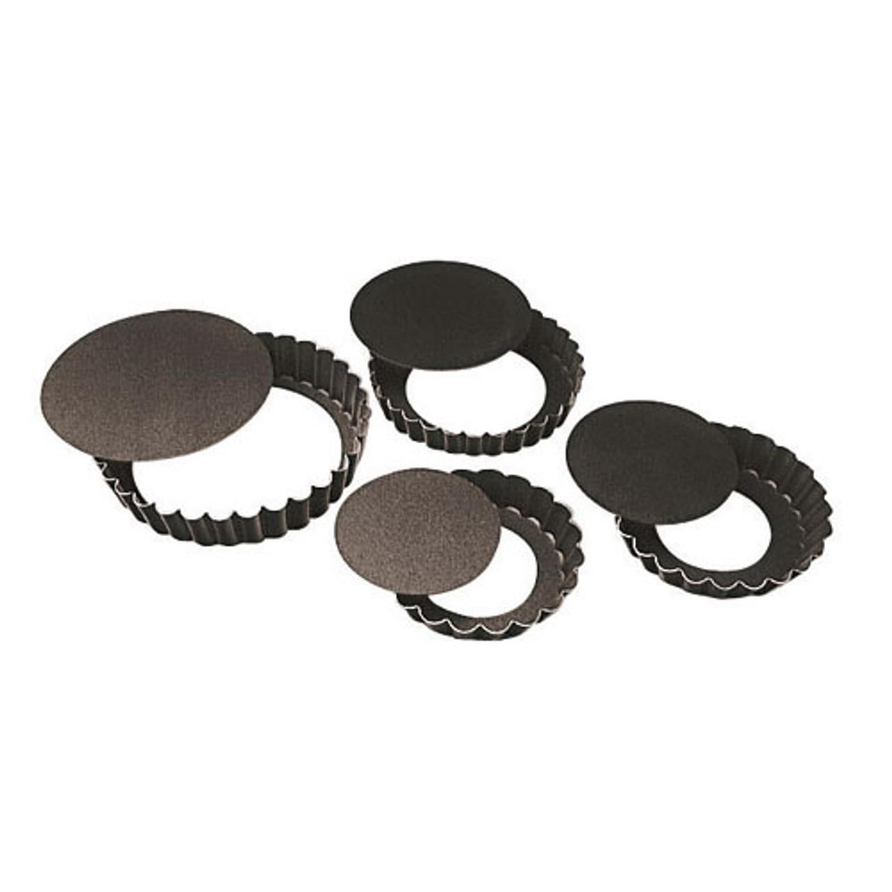 "Fluted N-Stick Tart Pan, Remo, DIA 4"" X H 3/4"""