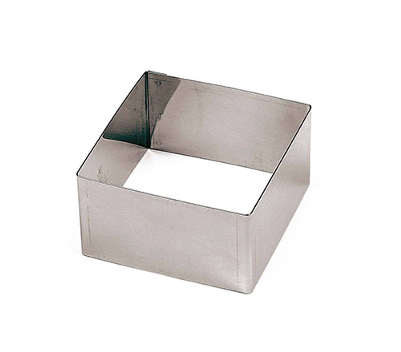 x6 Rounded-Edge Square S/S Pastry Rings - 3 1/8, L 3.125 x W 3.125 x H 1.75