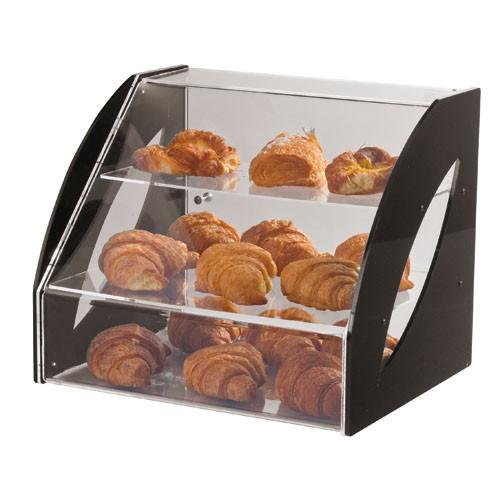 Three-tier Plexiglass Doughnut Display (23 5/8L X 14 1/2 X 14 1/8), L 23.625 x W 14.5 x H 14.125