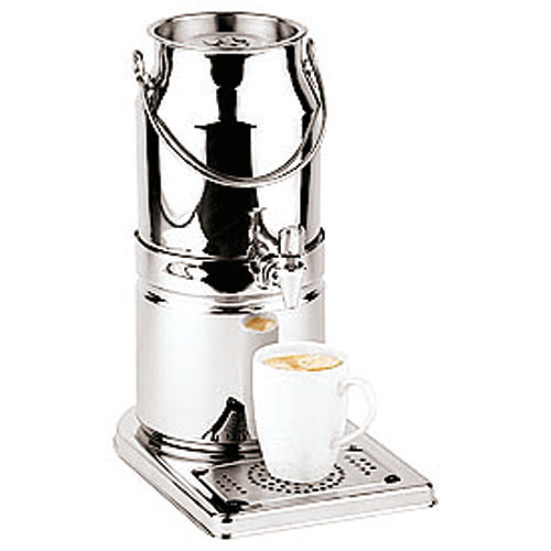 3.2 Quart S/S Milk Dispenser (cup pictured not included), L 12.25 x W 8 x H 15.375