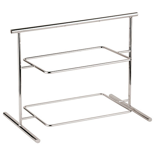 Two-tier Chromed Steel Stand - 24 7/8 x 10 5/8, L 24.875 x W 10.625 x H 17.5