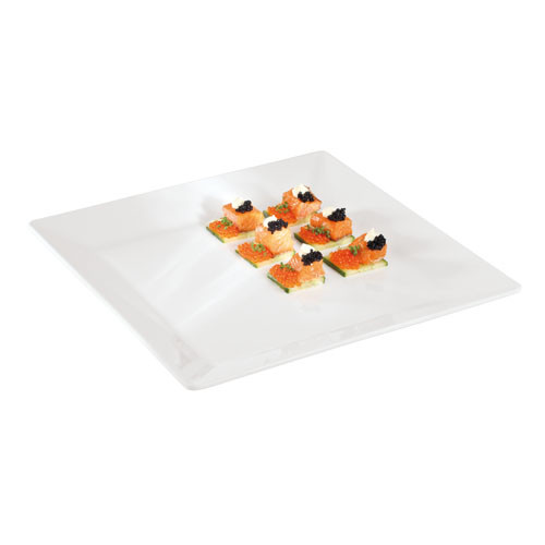 14 1/2 Square White Melamine Platter, L 14.5 x W 14.5 x H 0.5