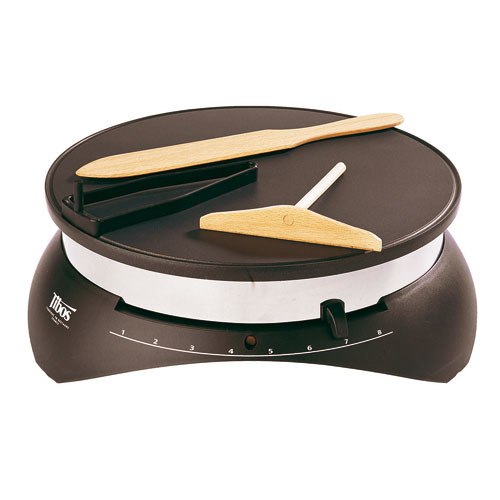 "Electric Crepe Maker 13 3/4"", L 15 3/8""X W 15 1/8""XH 5 3/8"""
