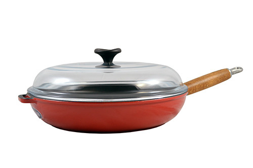 Paderno World Cuisine 7.125 Inch Red Round Dutch Oven A1737318