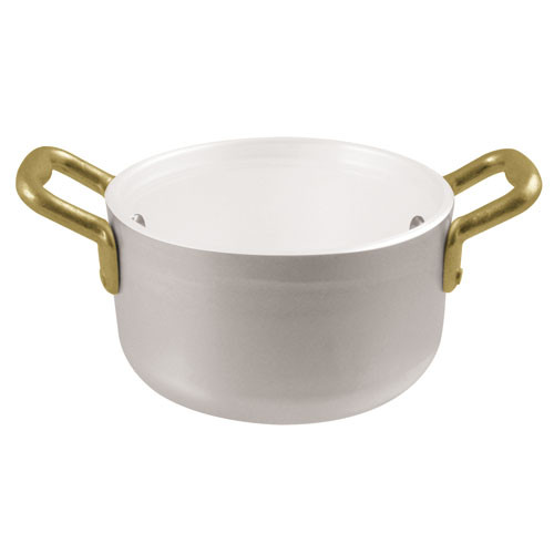 Mini Stew Pan, Alu+White, 16oz