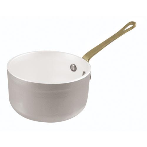 Mini Sauce Pan, Alu+White, 16oz