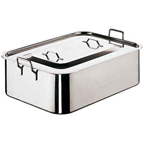 """Roasting Pan With Cover, L 19 5/8"""" X w 11 7/8""""XH 6"""""""