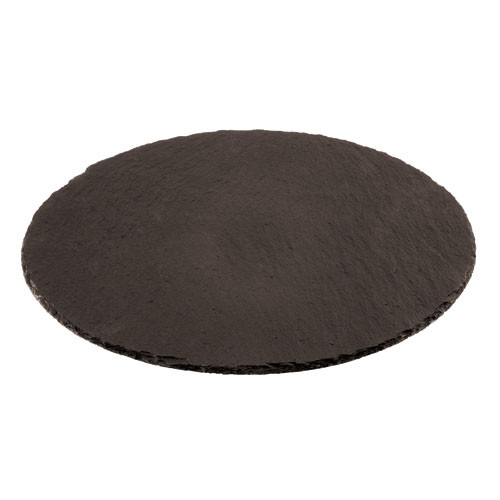 15 Round Natural Slate Tray , L 15 x W 15 x H 1