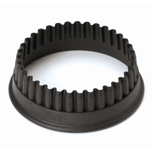 4 3/4 Fluted Round PA+  Cookie Cutter, L 4.75 x W 4.75 x H 1.375