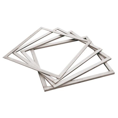 "Square Ganache Frame, L 15 3/4"" X W 15 3/4"" X H 3/8"