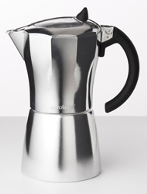 Aerolatte MokaVista Espresso Pot with Viewing Window on the Lid, 3 Cup