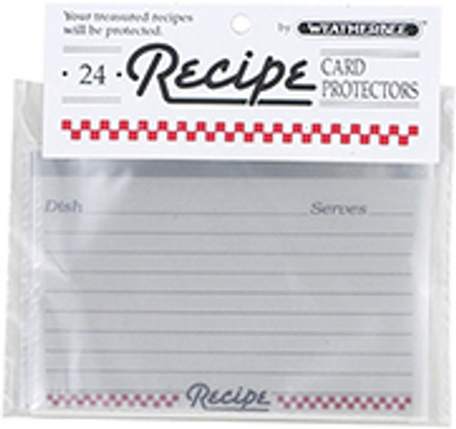Recipe Cards Protector, 3 x 5, Set of 24