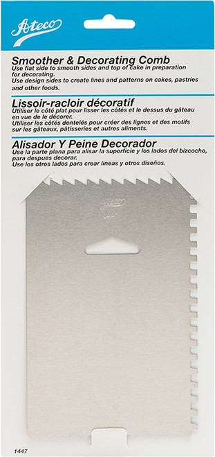 Ateco Decorating Comb and Icing Smoother