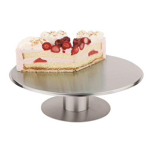 Revolving S/S Cake Stand - 12 1/8 Dia., L 12.125 x W 12.125 x H 2.75