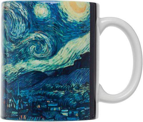 HIC Van Gogh Mug, Starry Night, Set of 4