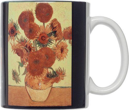 HIC Van Gogh Mug,, Sunflowers, Set of 4