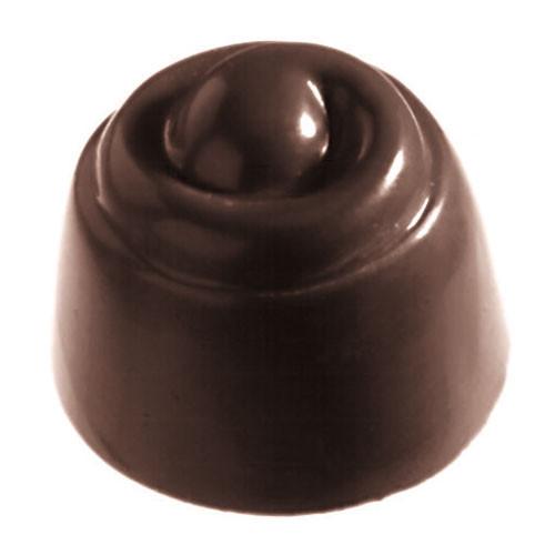 "Chocolate Mold, DIA 1 1/4"" X H 1"", Swirl Mound"