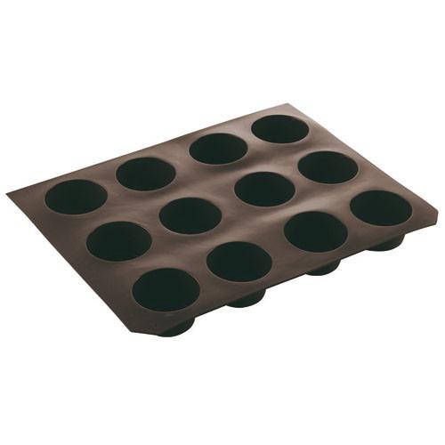 "N-Stick Silic. Mold, Muffin, DIA 2 3/4"" X H 1 1/2"", 4 OZ"