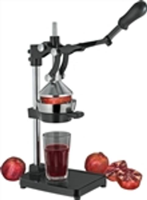 The Press, pomegranate and orange press, black
