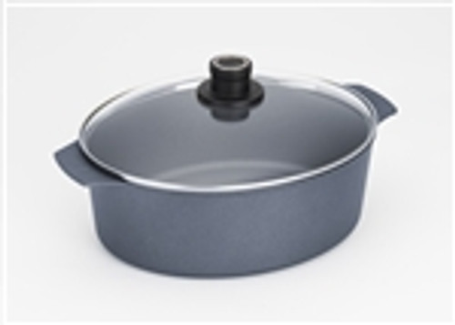"Diamond Plus Induction,  Oval Roaster w/ Lid 6.3 qt., 10 1/2"" x 12"""