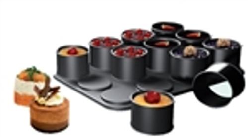 Ring Mold Set (pan / 12 ring molds)