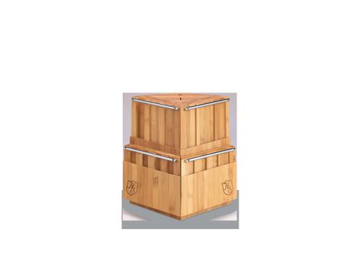 21-Slot Revolving Bamboo Block