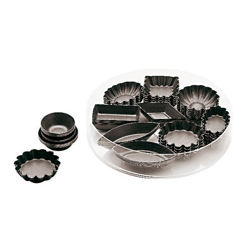 Set of 24 Petit Fours Non-Stick Molds - , L 5 x W 5 x H 1.875
