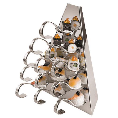 S/S Buffet Serving Pyramid (8 1/2 x 5 1/2 x 10 5/8), L 8.5 x W 5.5 x H 10.625