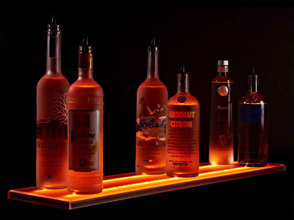 Double Wide LED Liquor Shelf