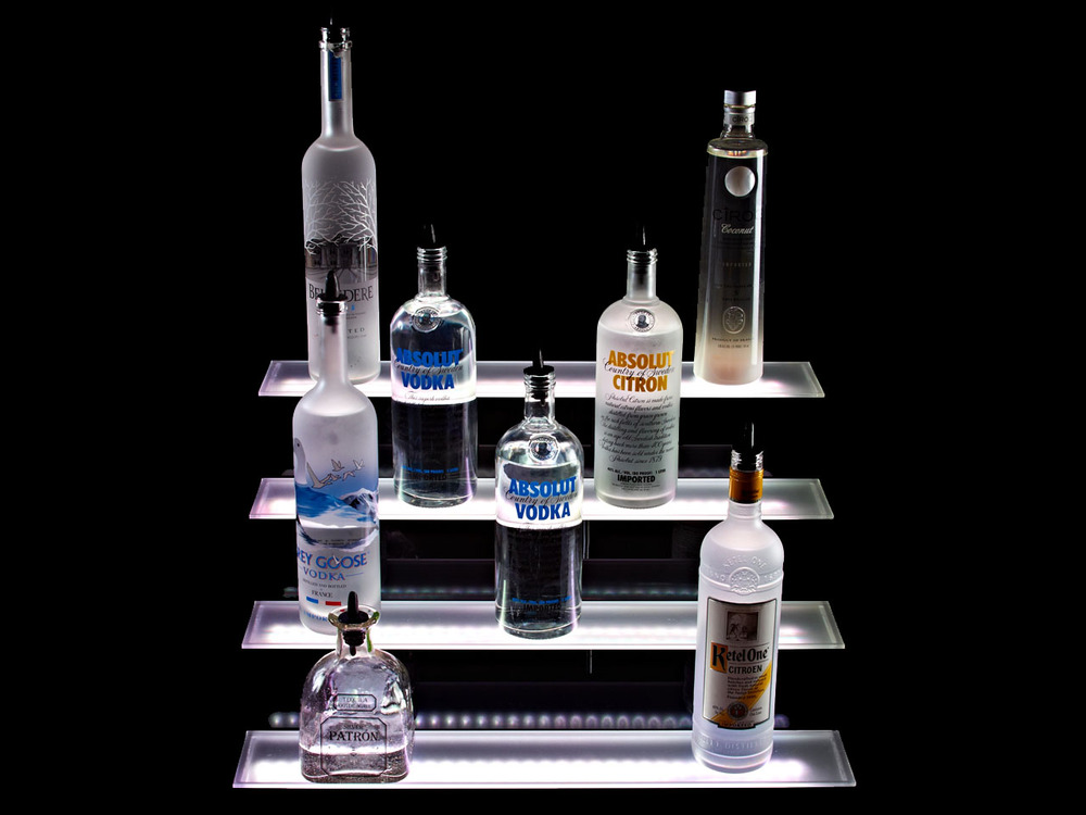 4 Tier LED Liquor Shelf Display