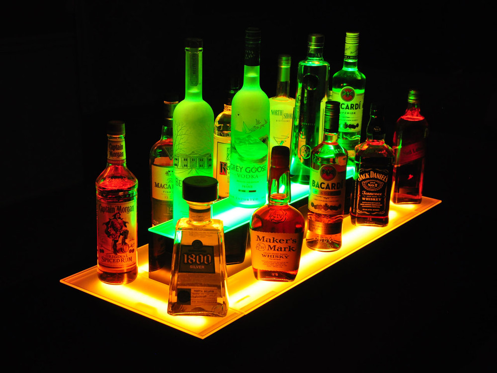 Island 2 Tier LED Bar Shelf Display