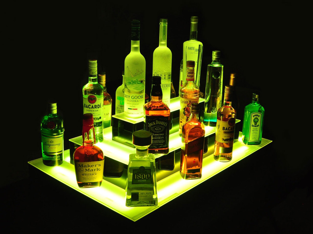 Island 3 Tier LED Bar Shelf Display