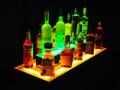 Island 2 Tier LED Bar Shelf Display