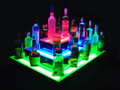 Island 3 Tier Double Wide LED Bar Shelf Display